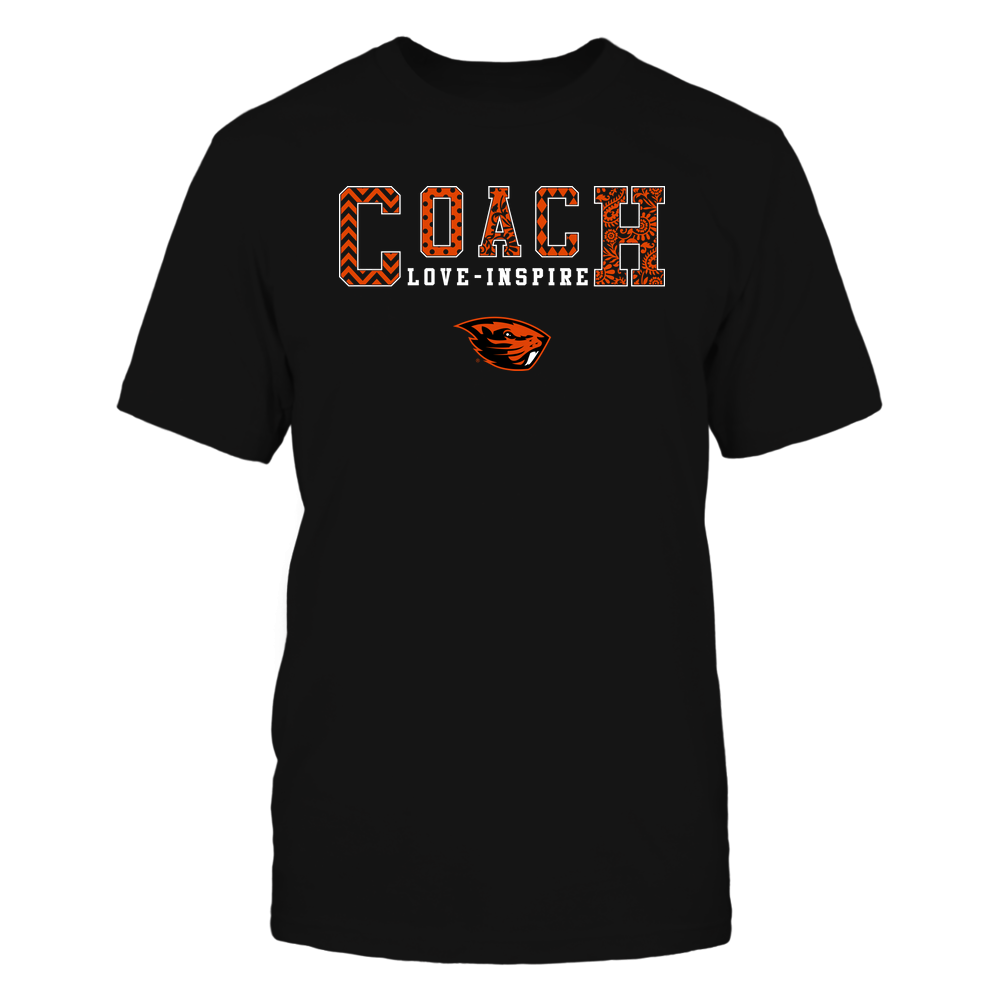 Oregon State Beavers - Coach Love Inspire - Slogan Patterned - Team Front picture