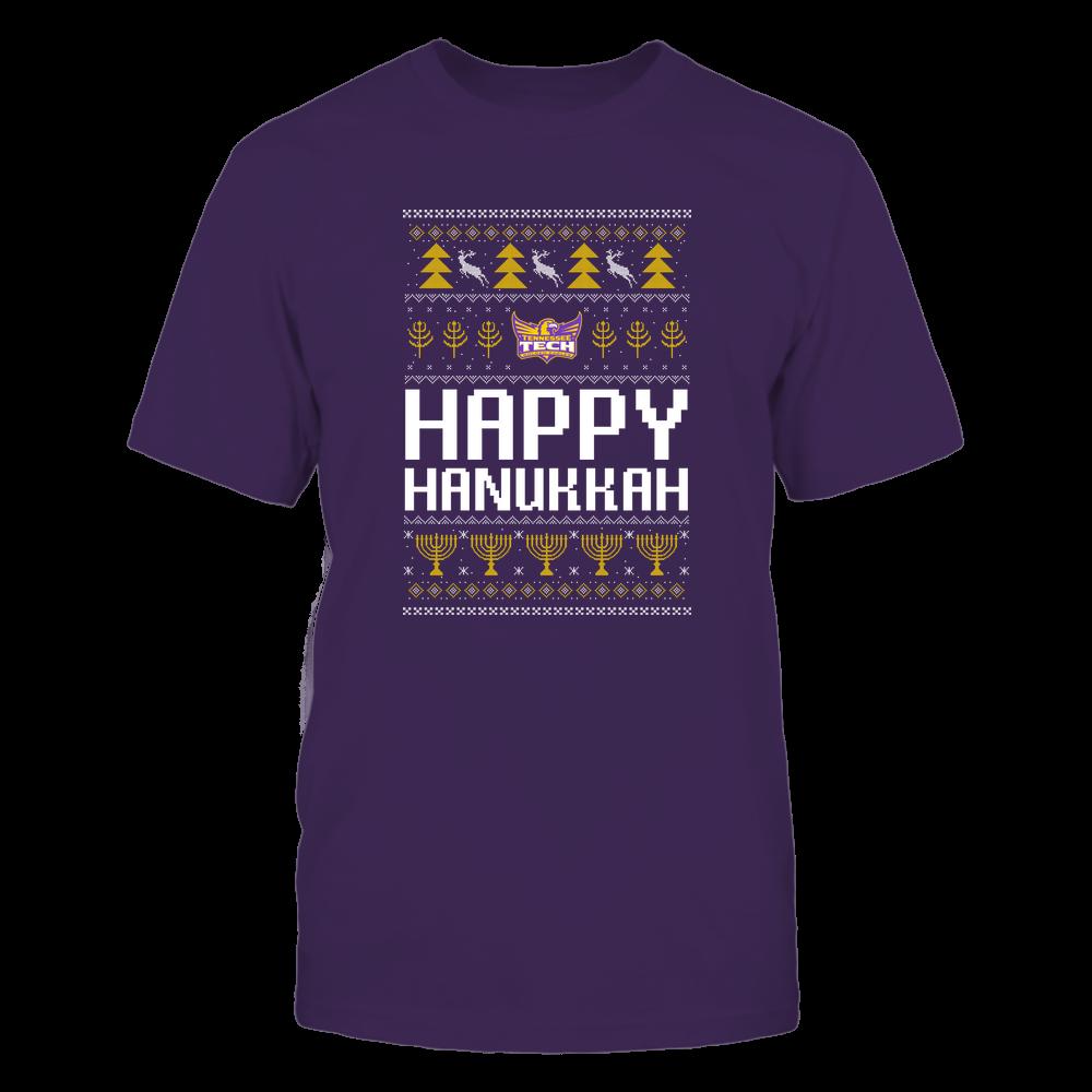 Tennessee Tech Golden Eagles - Hanukkah - Happy Hanukkah Sweater - Team Front picture