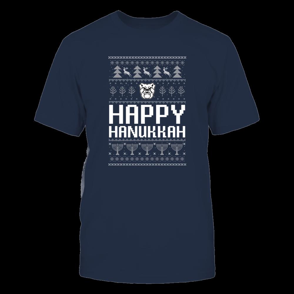 Butler Bulldogs - Hanukkah - Happy Hanukkah Sweater - Team Front picture