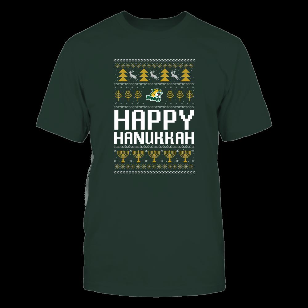 Northern Michigan Wildcats - Hanukkah - Happy Hanukkah Sweater - Team Front picture