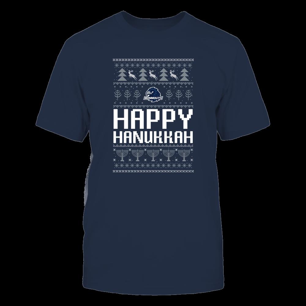 Monmouth Hawks - Hanukkah - Happy Hanukkah Sweater - Team Front picture