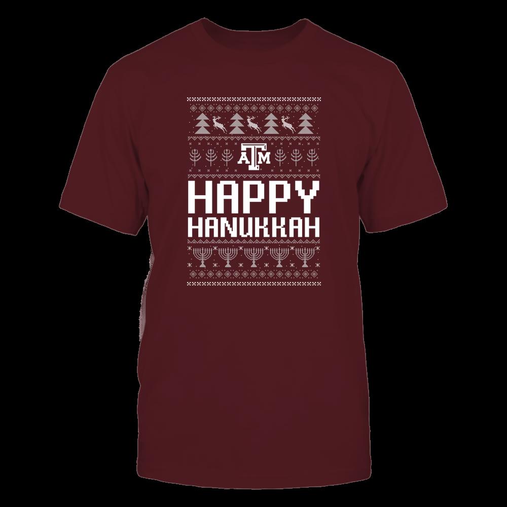Texas A&M Aggies - Hanukkah - Happy Hanukkah Sweater - Team Front picture
