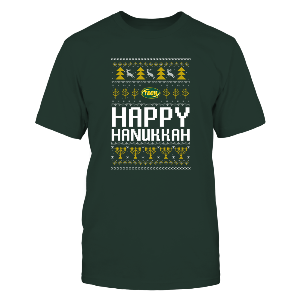 Arkansas Tech Golden Suns - Hanukkah - Happy Hanukkah Sweater - Team Front picture