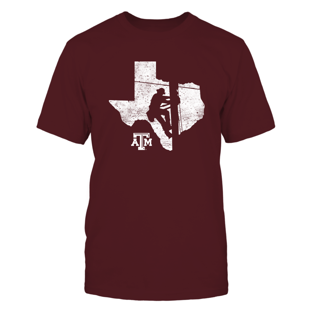 Texas A&M Aggies - Lineman - Lineman Inside State Map - IF13-IC13-DS38 Front picture