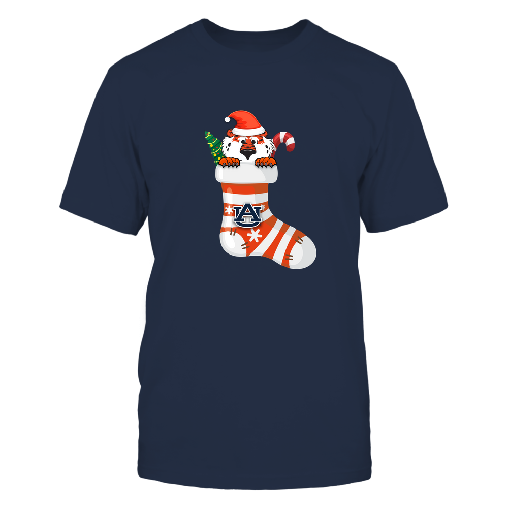 Auburn Tigers - Xmas - Mascot In The Sock - IF82-IC82-DS85 Front picture