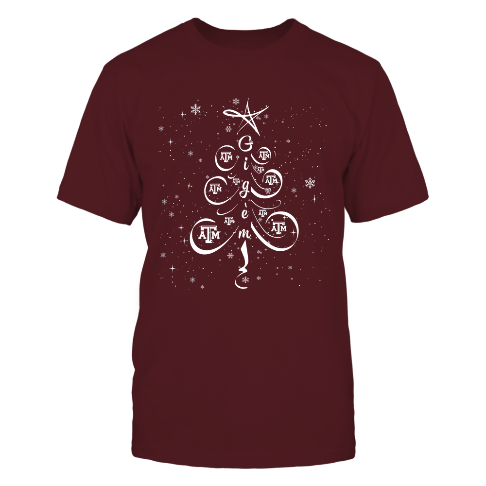 Texas A&M Aggies - Xmas - Team Slogan - Drawing Christmas Tree - IF78-IC78-DS83 Front picture
