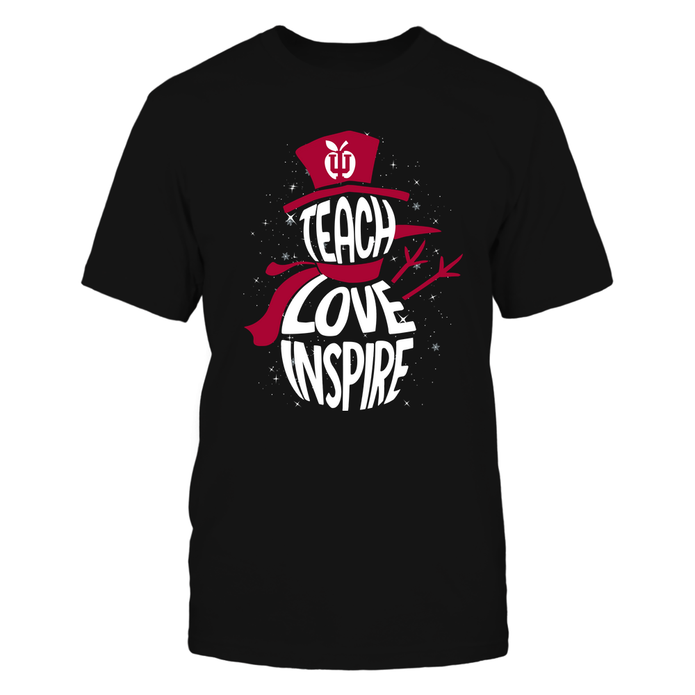 Indiana Hoosiers - 19102910069 - Xmas - Teacher - Teach Love Inspire Inside - APCX - IF13-IC13-DS27 Front picture