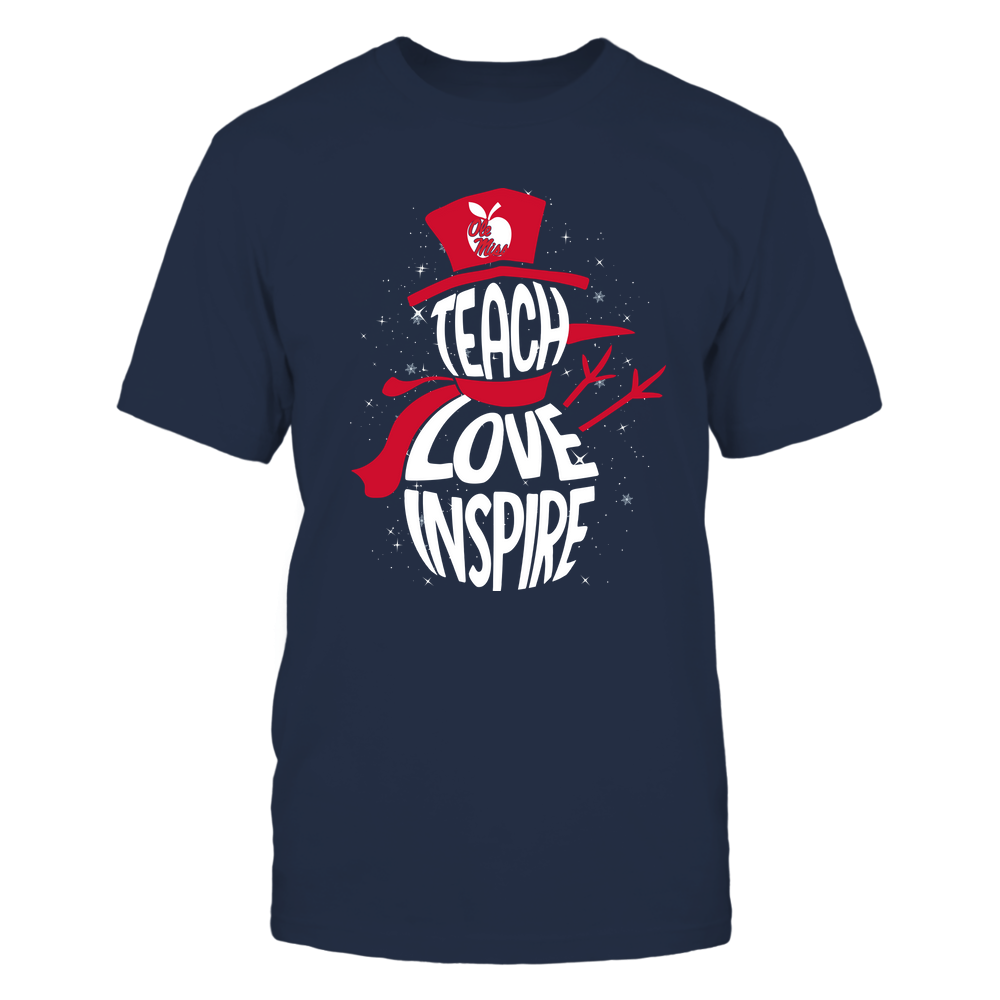 Ole Miss Rebels - 19102910069 - Xmas - Teacher - Teach Love Inspire Inside - APCX - IF13-IC13-DS27 Front picture