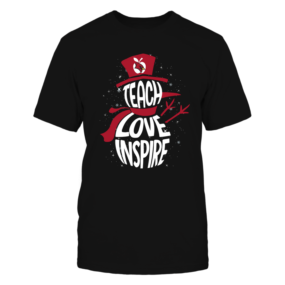 Saginaw Valley State Cardinals - 19102910069 - Xmas - Teacher - Teach Love Inspire Inside - APCX - IF13-IC13-DS27 Front picture