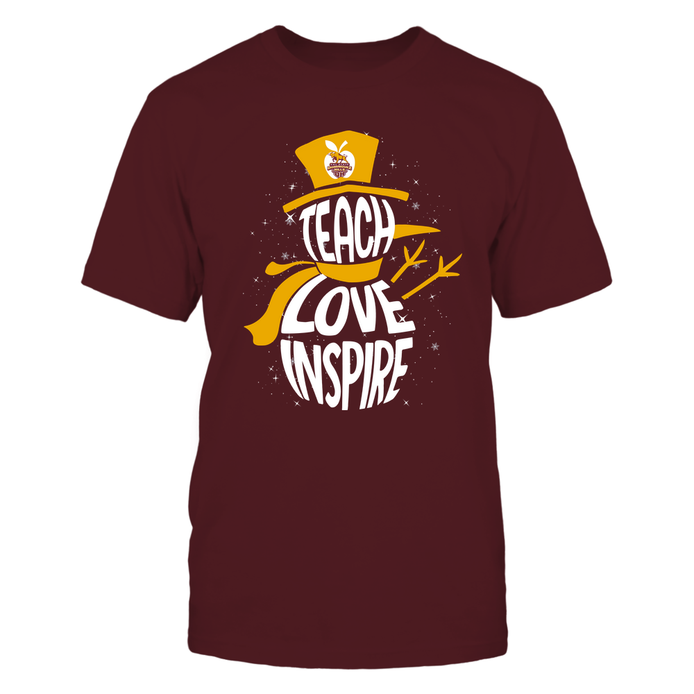 Cal State Dominguez Hills Toros - 19102910069 - Xmas - Teacher - Teach Love Inspire Inside - APCX - IF13-IC13-DS27 Front picture