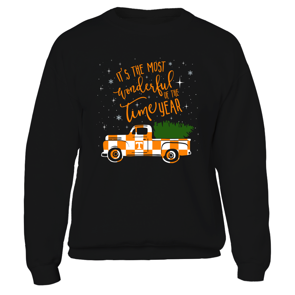 Tennessee Volunteers - Christmas Truck - Checkerboard Pattern Front picture