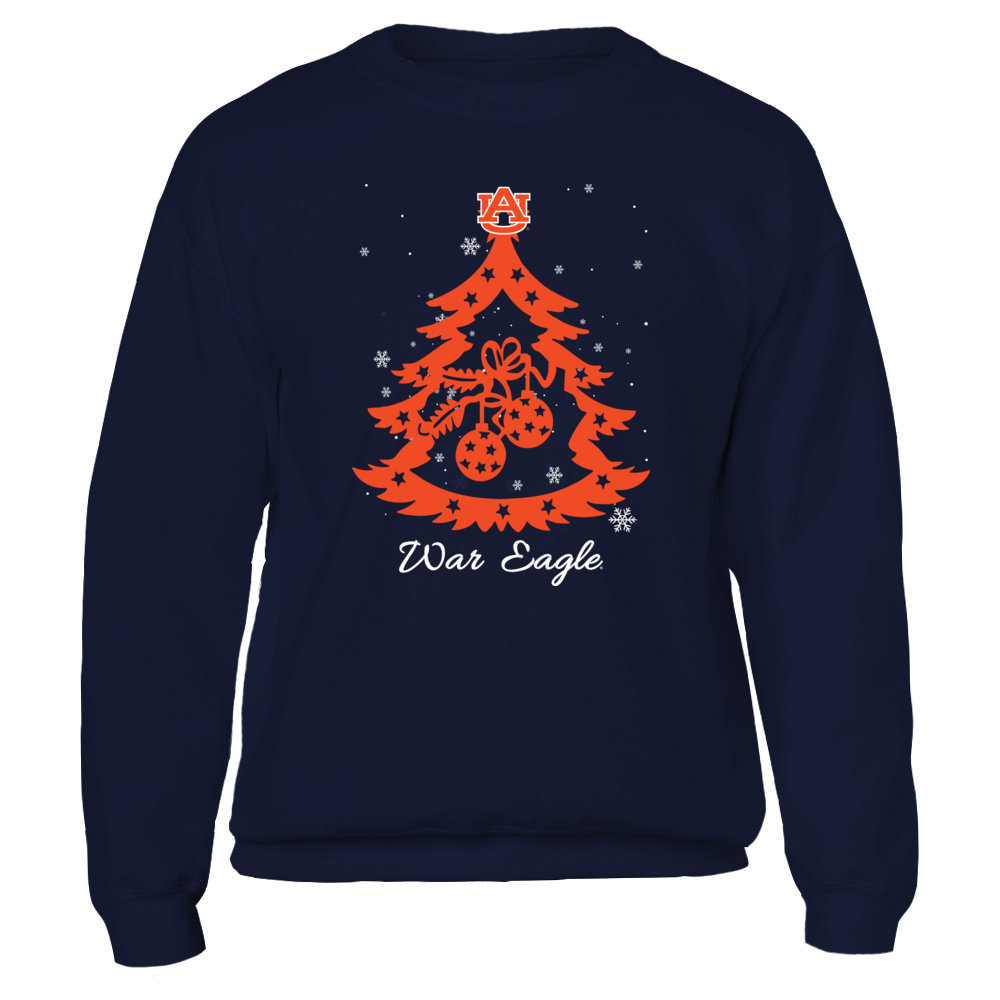 Auburn Tigers - Xmas - Fabulous Tree - IF32-IC32-DS38 Front picture