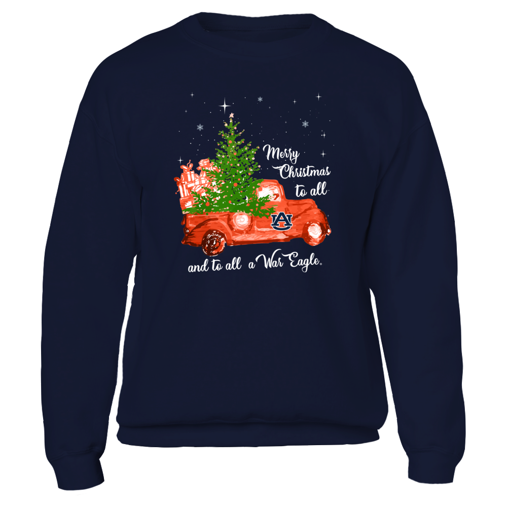 Auburn Tigers - Christmas - Team Quotes Christmas Truck - IF13-IC13-DS38 Front picture