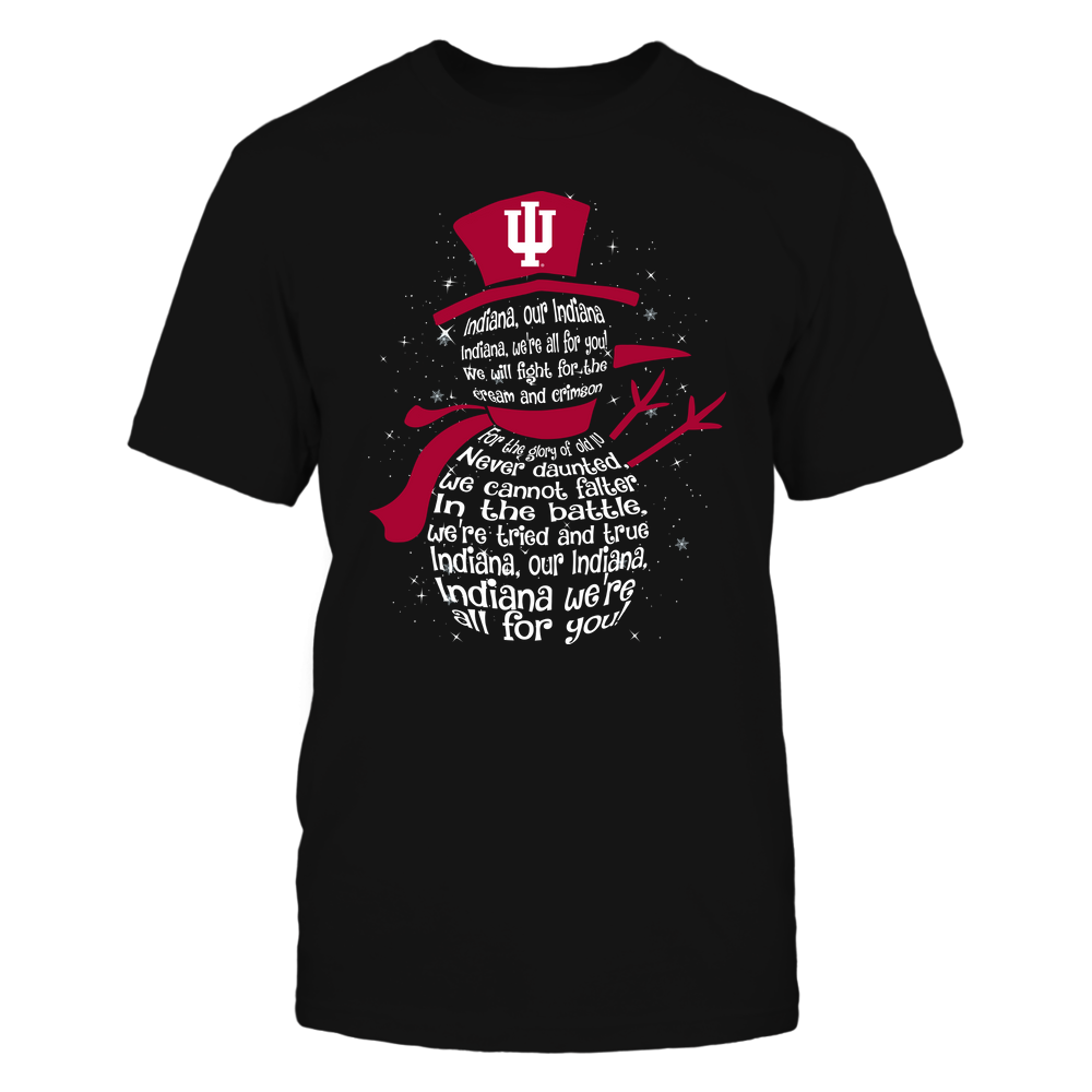 Indiana Hoosiers - Christmas - Fight Song Inside Snowman - IF13-IC13-DS37 Front picture