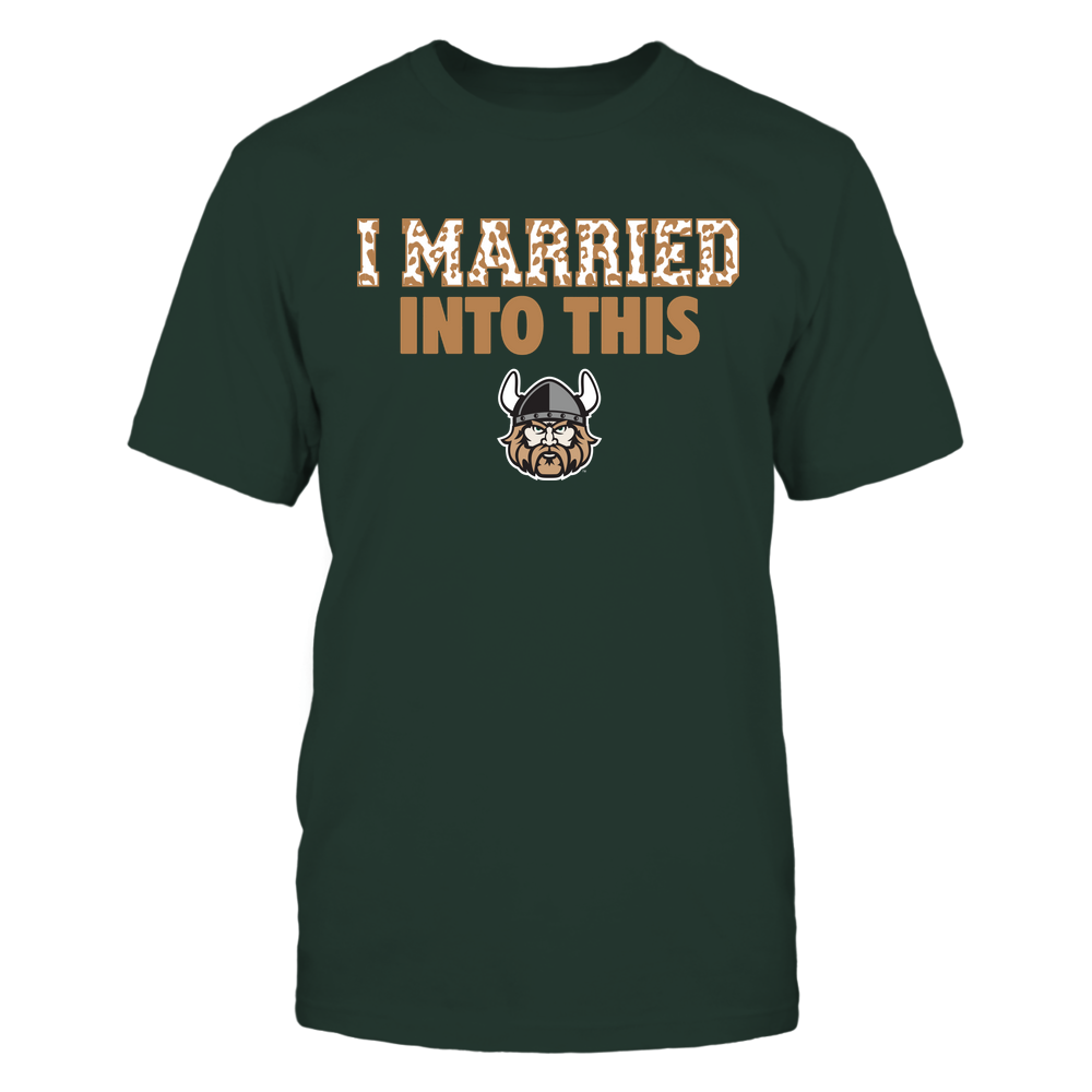 Cleveland State Vikings - I Married Into This - Leopard Pattern Front picture