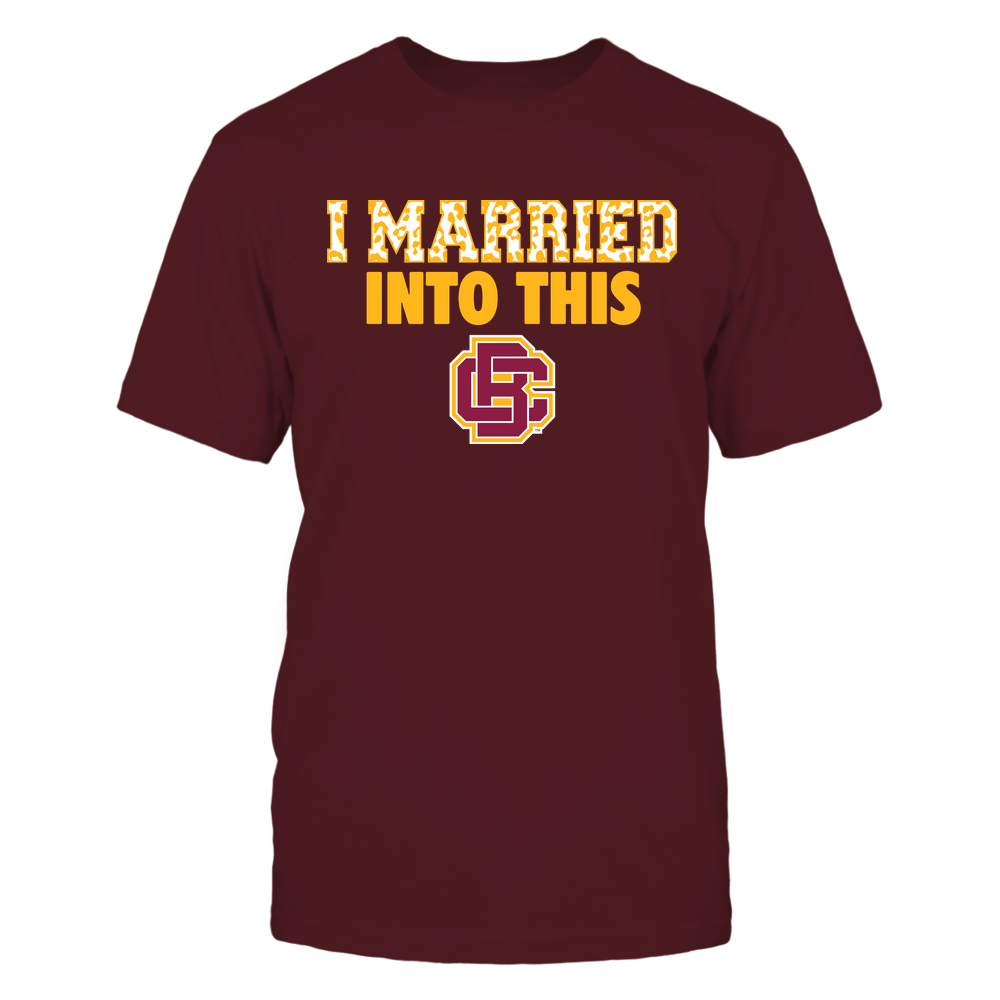 Bethune-Cookman Wildcats - I Married Into This - Leopard Pattern Front picture