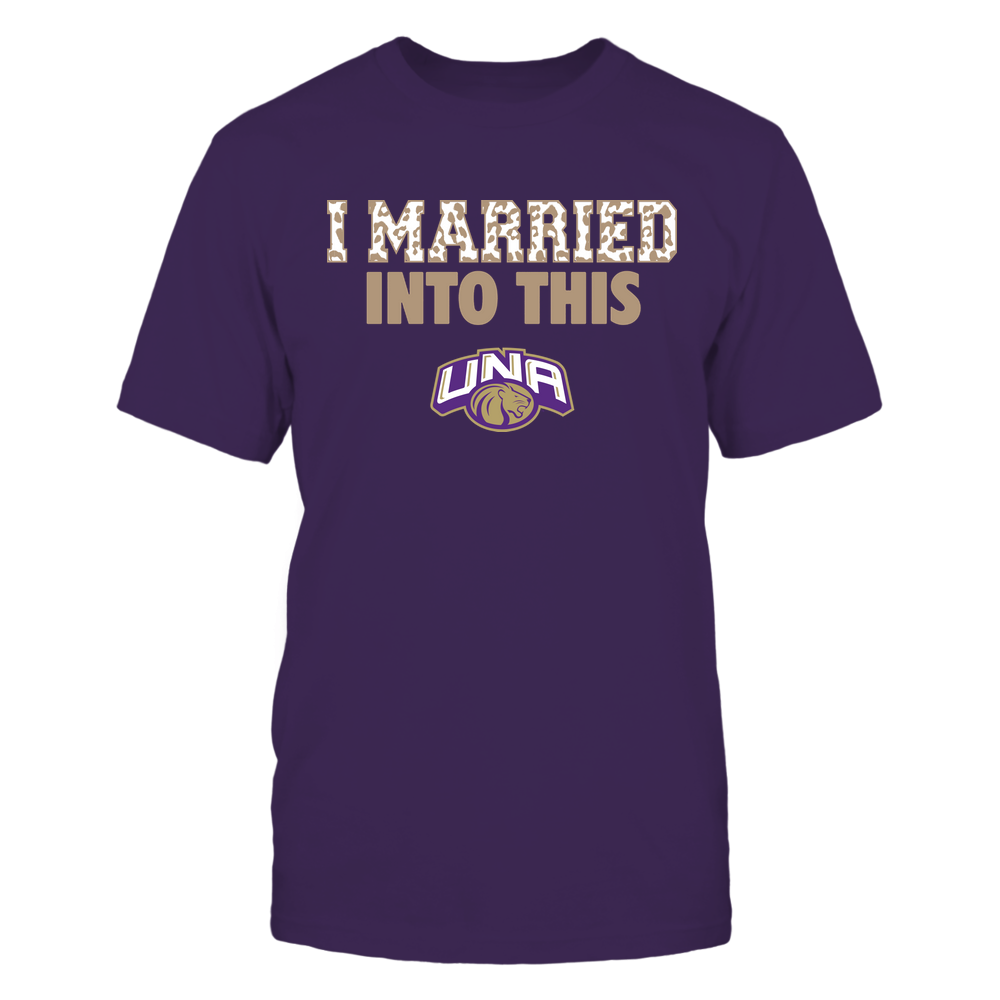 North Alabama Lions - I Married Into This - Leopard Pattern Front picture