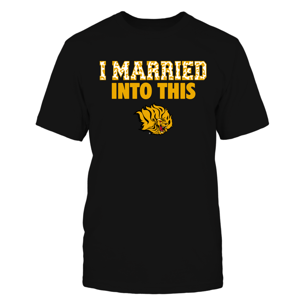 Arkansas Pine Bluff Golden Lions - I Married Into This - Leopard Pattern Front picture