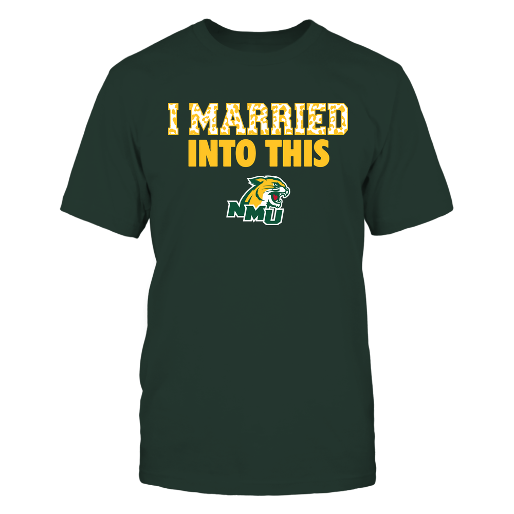 Northern Michigan Wildcats - I Married Into This - Leopard Pattern Front picture