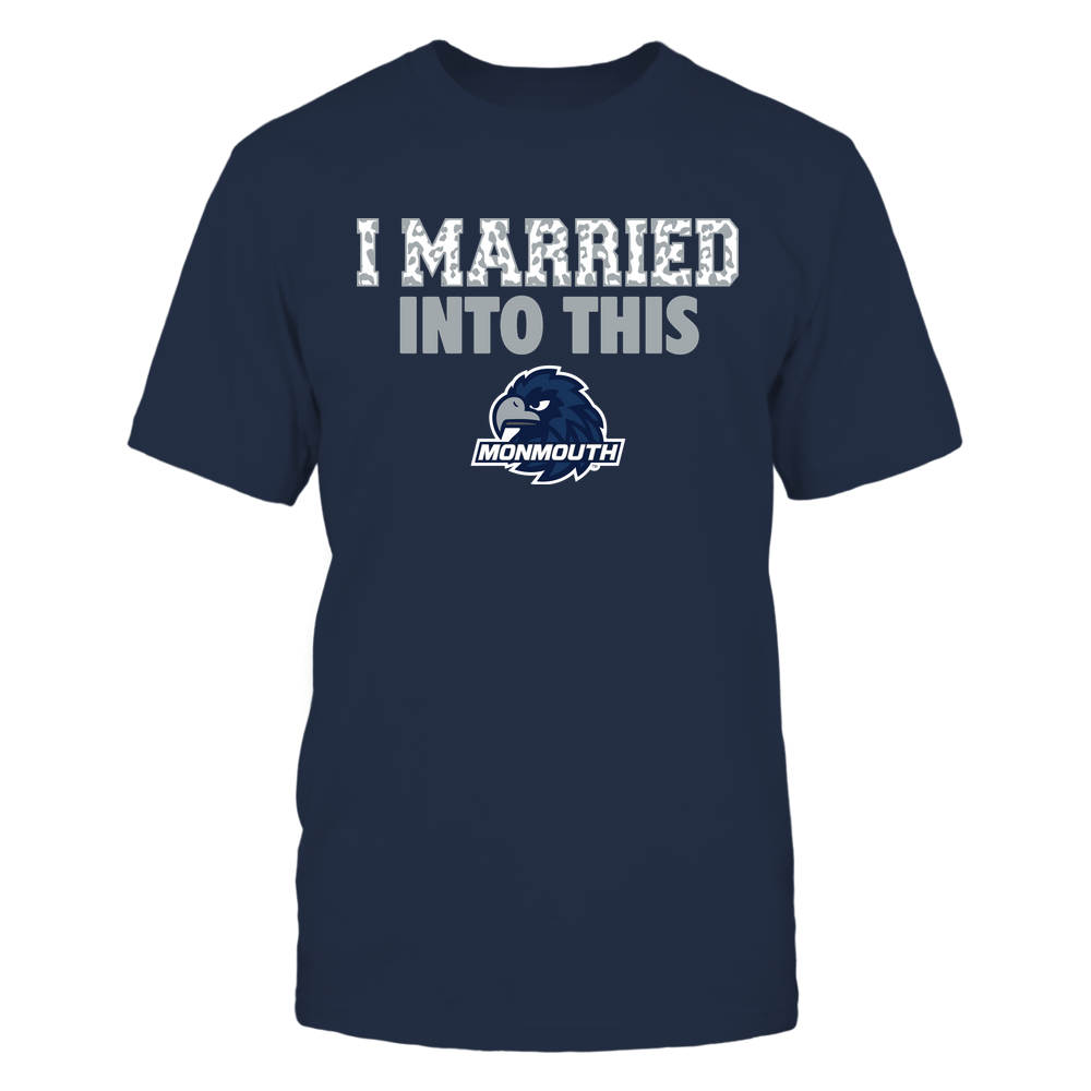 Monmouth Hawks - I Married Into This - Leopard Pattern Front picture