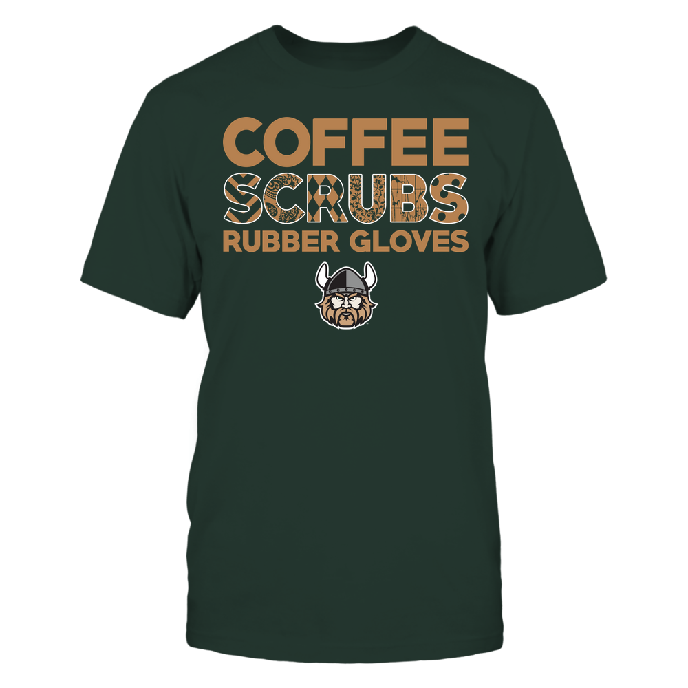 Cleveland State Vikings - Nurse - Coffee Scrubs Rubber Gloves - Slogan Pattern Front picture