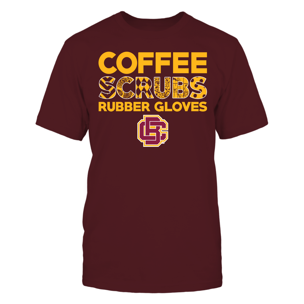 Bethune-Cookman Wildcats - Nurse - Coffee Scrubs Rubber Gloves - Slogan Pattern Front picture