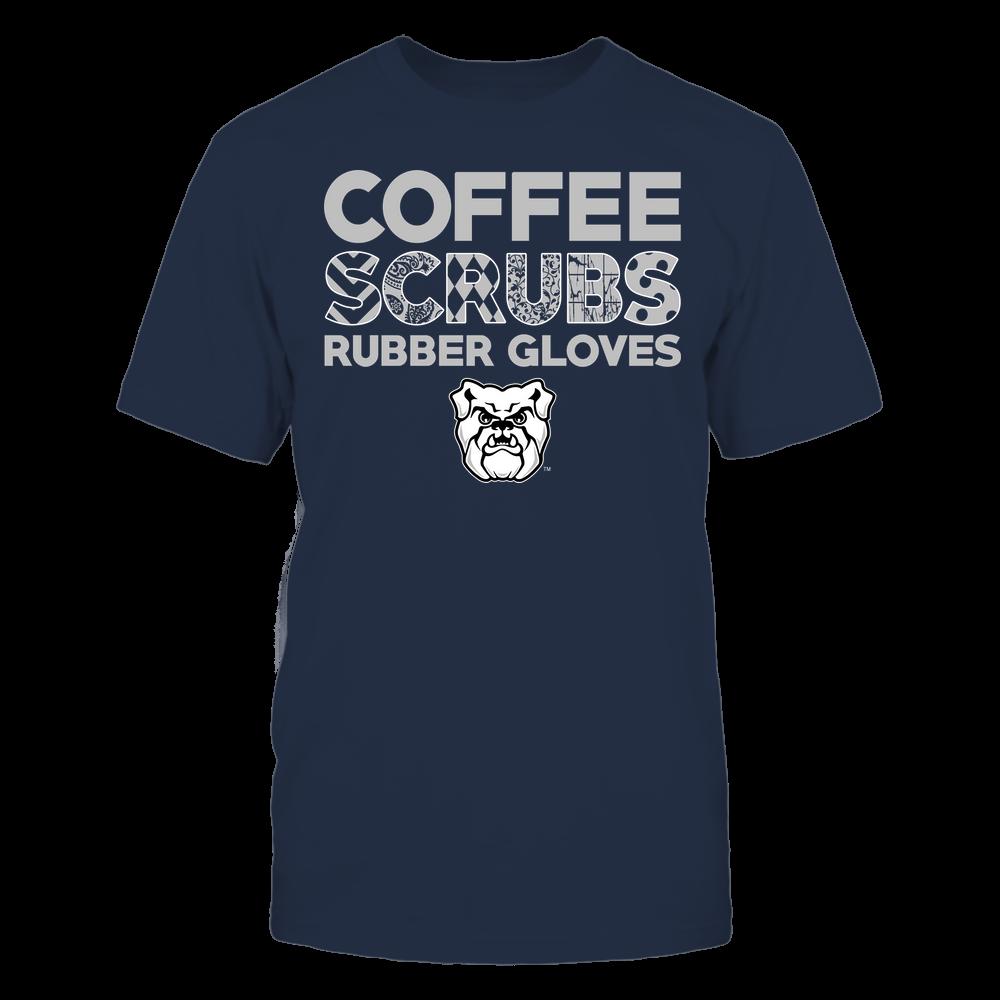 Butler Bulldogs - Nurse - Coffee Scrubs Rubber Gloves - Slogan Pattern Front picture