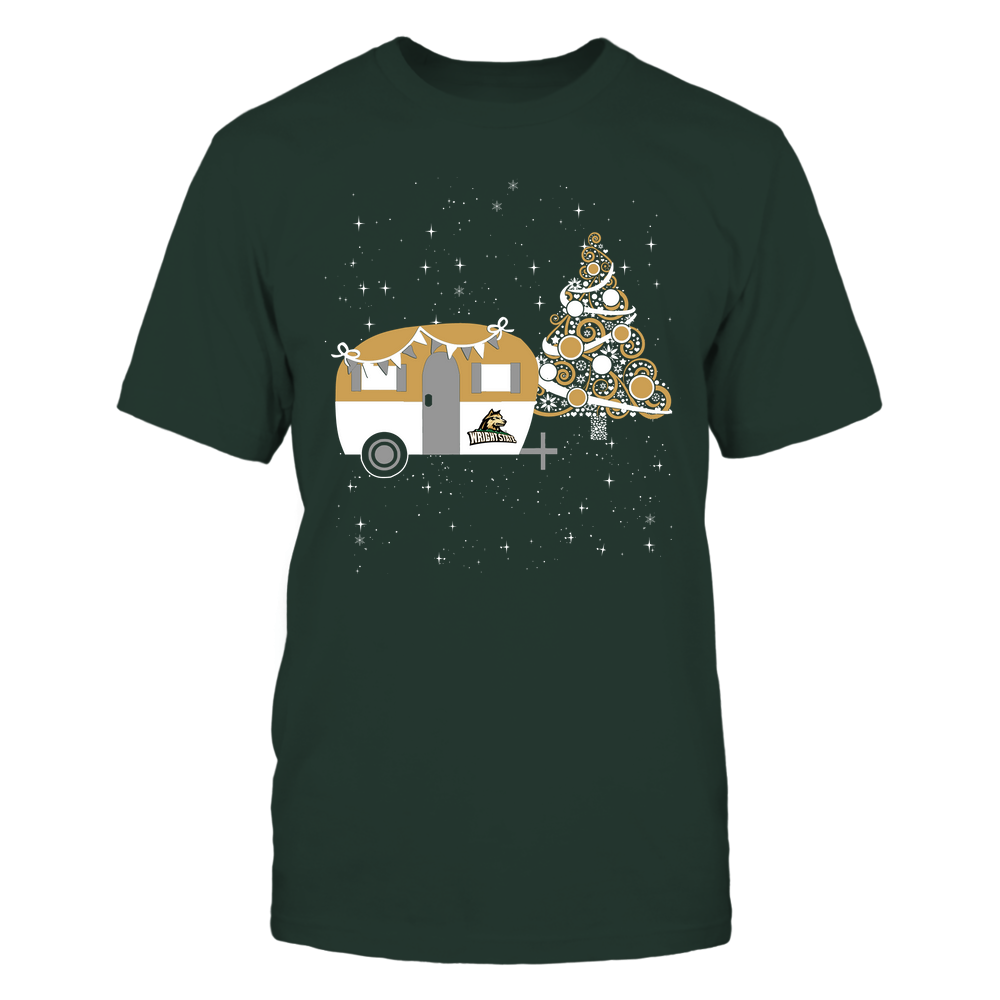Wright State Raiders - Christmas - Camping - Christmas Tree Front picture