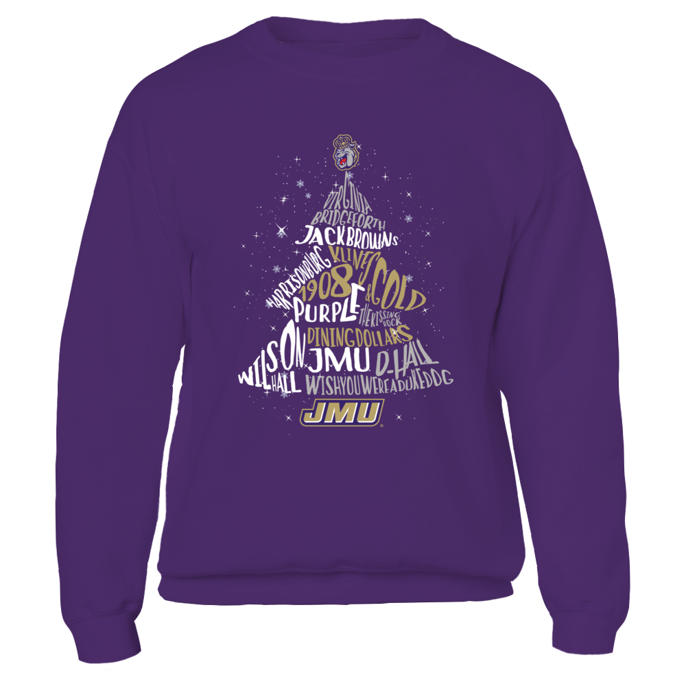 James Madison Dukes - Christmas Tree Of Team Things Front picture