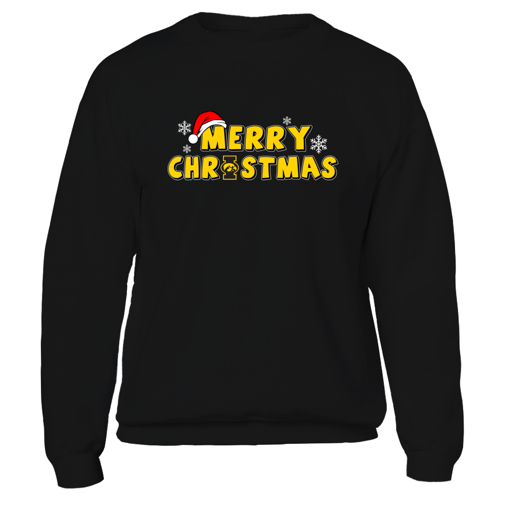 Iowa Hawkeyes - Merry Christmas Logo Front picture