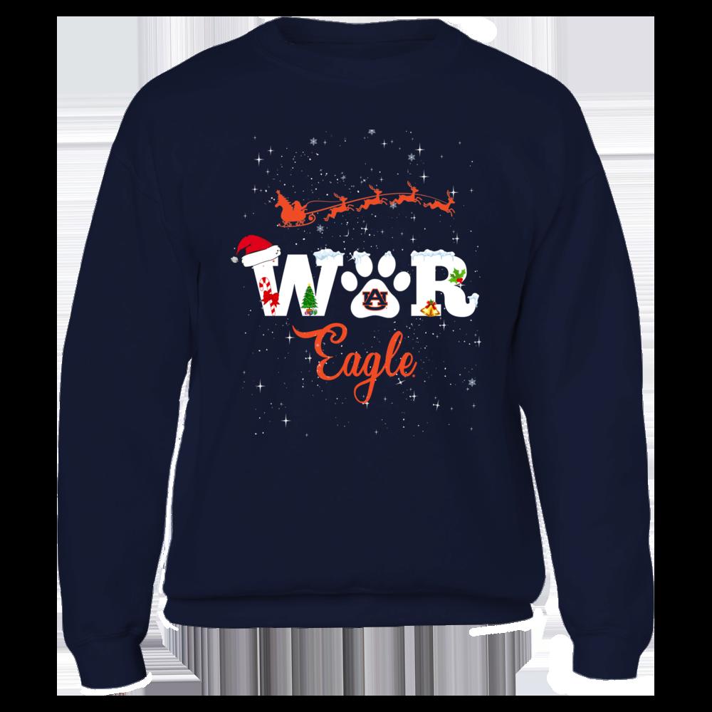Auburn Tigers - Christmas War Eagle Slogan Front picture