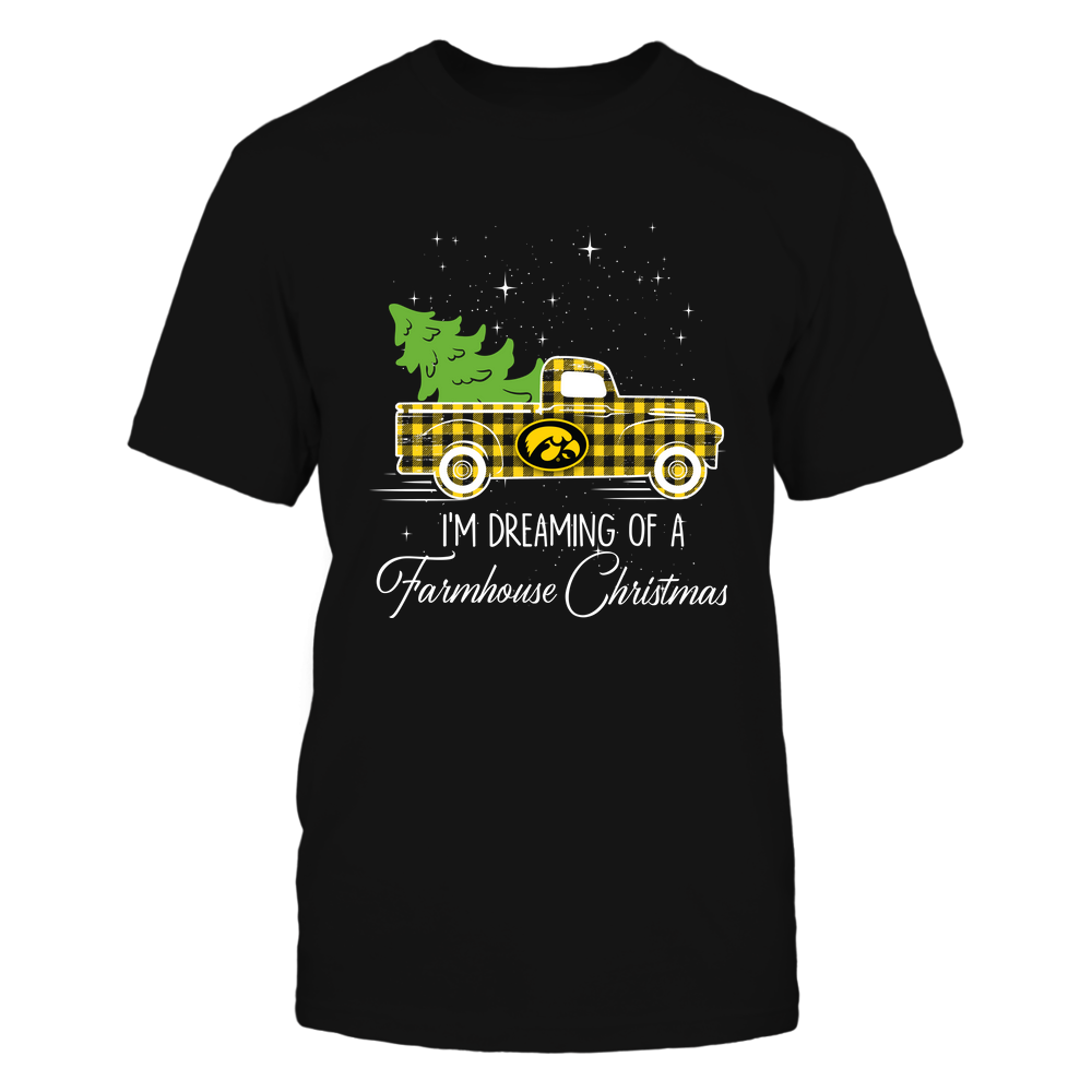 Iowa Hawkeyes - Xmas - Farmer - Christmas Truck - Dreaming Farmhouse Christmas - IF78-IC78-DS85 Front picture