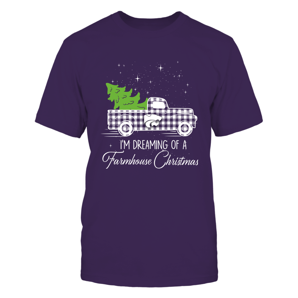 Kansas State Wildcats - Xmas - Farmer - Christmas Truck - Dreaming Farmhouse Christmas - IF78-IC78-DS85 Front picture