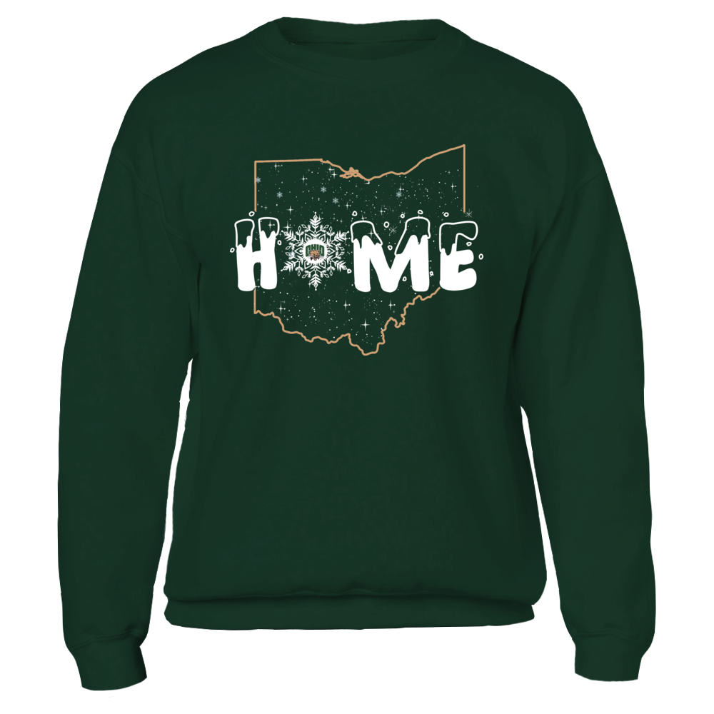 Ohio Bobcats - Christmas - Home State Outline - Snowflake Front picture