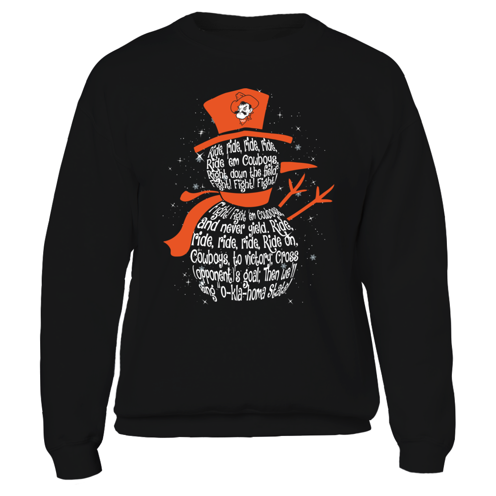 Oklahoma State Cowboys - Christmas - Fight Song Inside Snowman Front picture