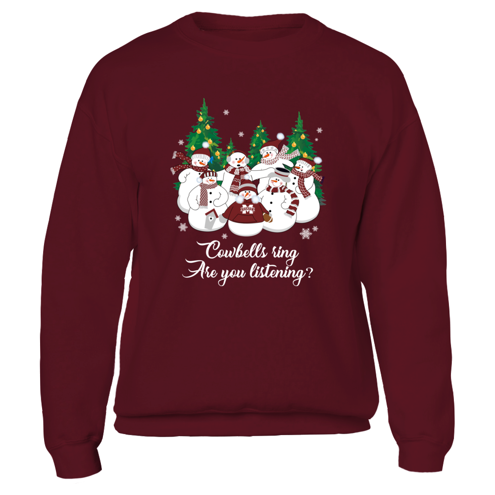 Mississippi State Bulldogs - Christmas - Merry Christmas Snowman - Team Quote Front picture