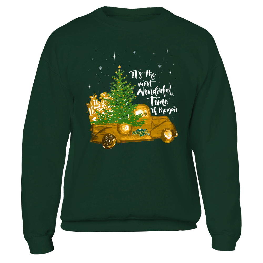 North Dakota State Bison - Christmas - Most Wonderful Time Front picture
