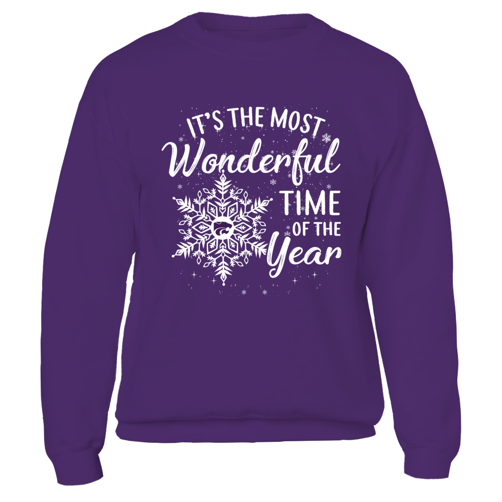 Kansas State Wildcats - Christmas - Wonderful Time Snowflake Logo Front picture