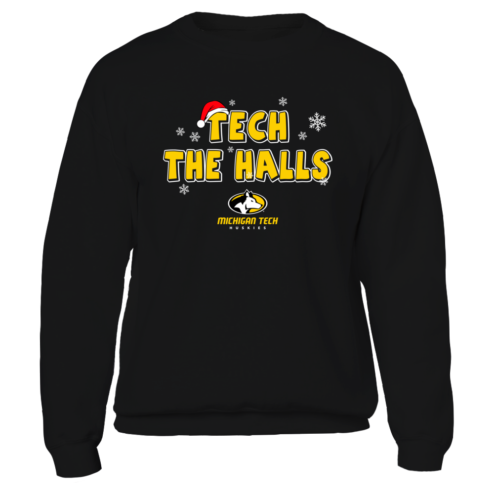 Michigan Tech Huskies - Christmas - Tech The Halls Front picture