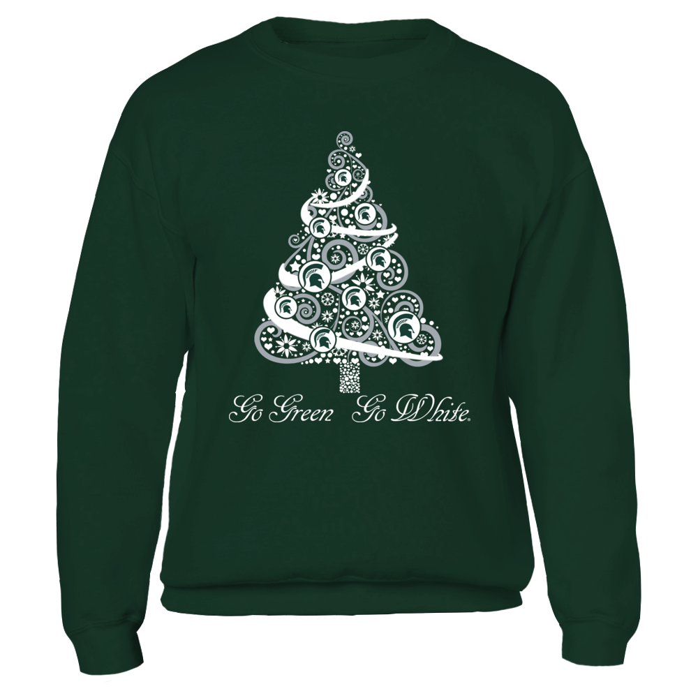Michigan State Spartans - Logo Christmas Tree Front picture