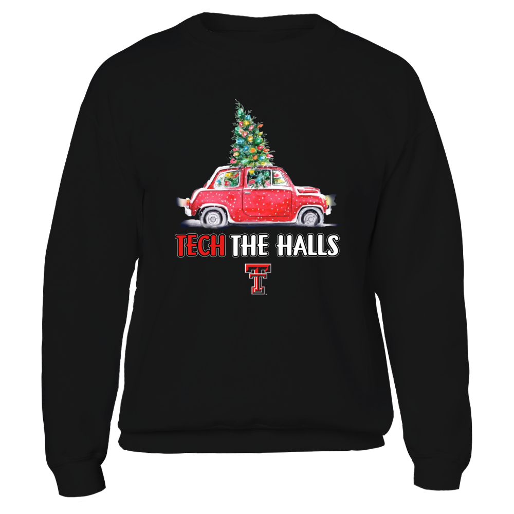 Texas Tech Red Raiders - Tech The Halls Christmas Truck - Team Slogan Front picture