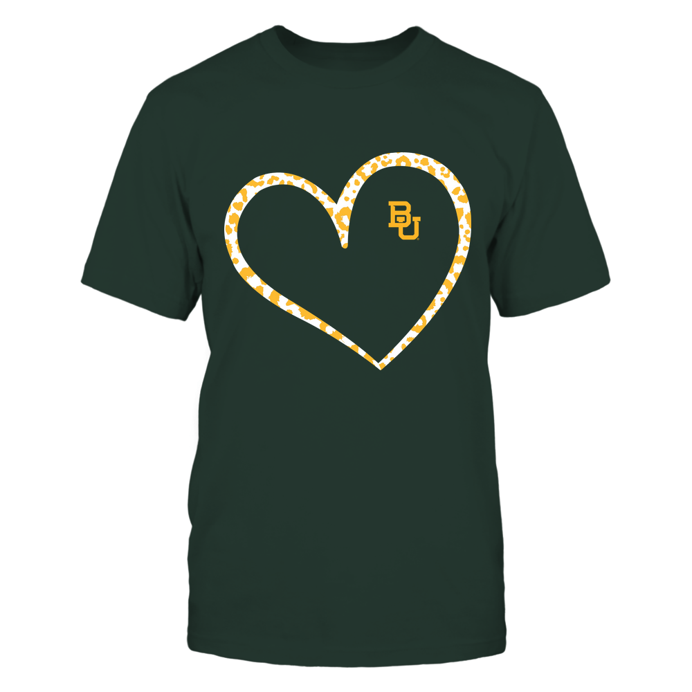 Baylor Bears - Leopard Pattern Heart - Team Front picture