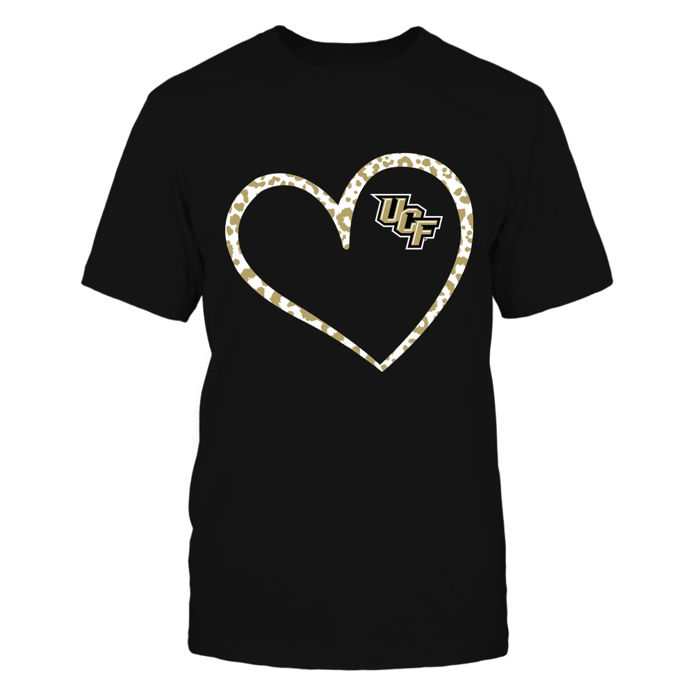 UCF Knights - Leopard Pattern Heart - Team Front picture
