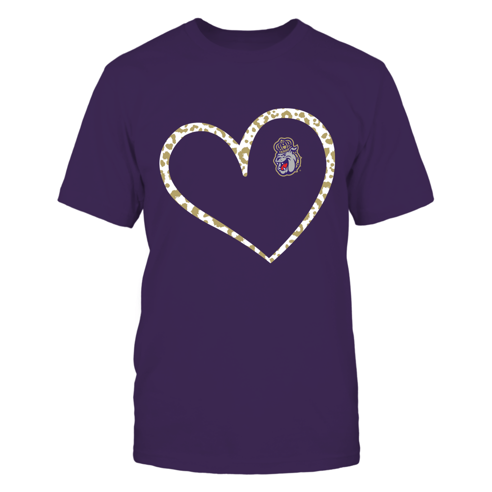 James Madison Dukes - Leopard Pattern Heart - Team Front picture