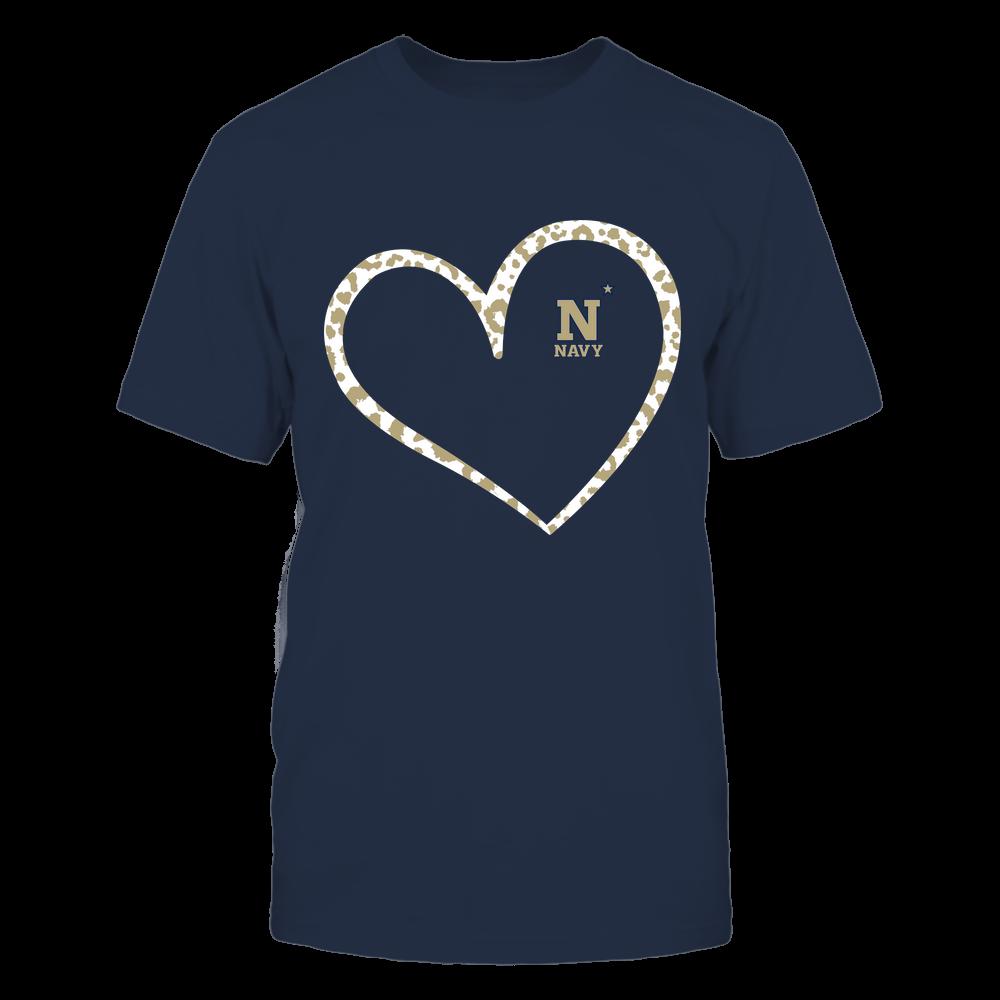Navy Midshipmen - Leopard Pattern Heart - Team Front picture