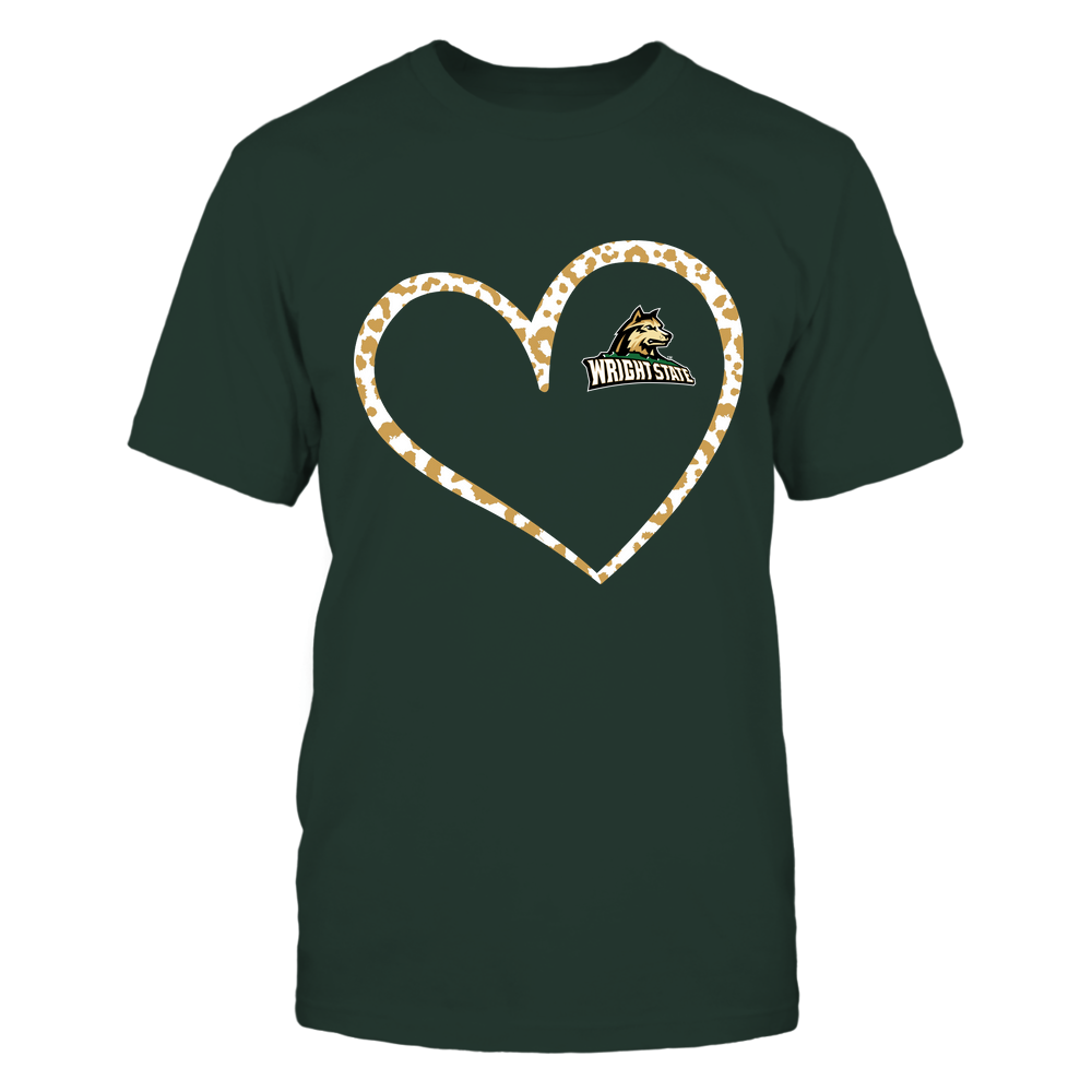 Wright State Raiders - Leopard Pattern Heart - Team Front picture