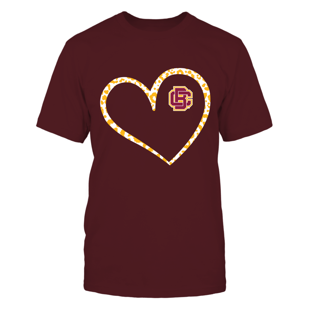 Bethune-Cookman Wildcats - Leopard Pattern Heart - Team Front picture