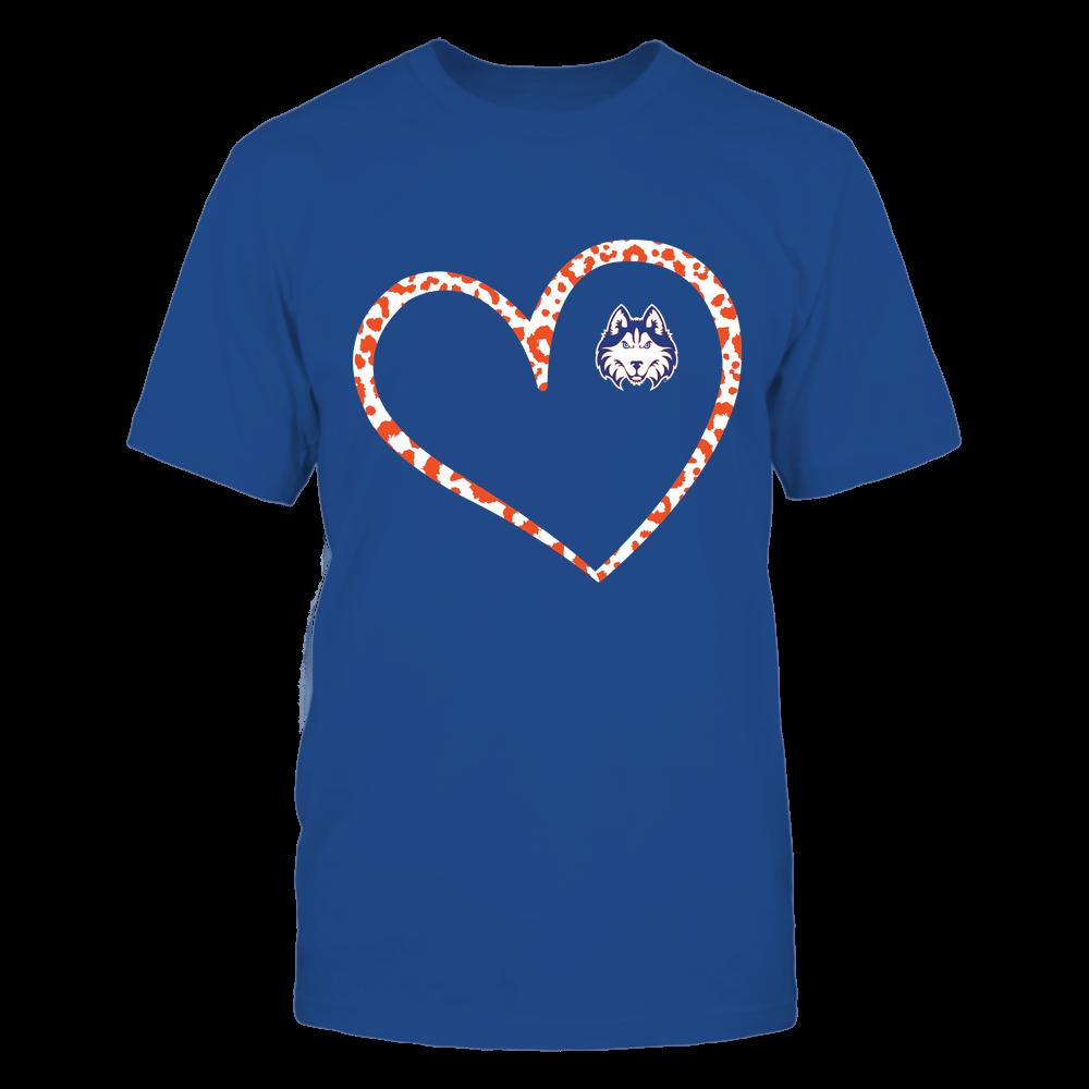 Houston Baptist Huskies - Leopard Pattern Heart - Team Front picture