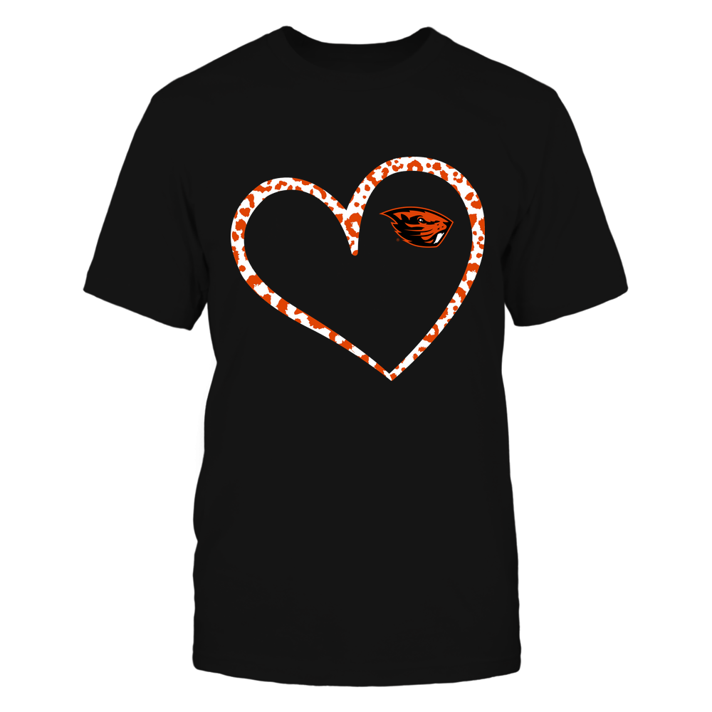 Oregon State Beavers - Leopard Pattern Heart - Team Front picture