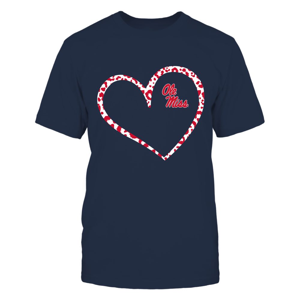 Ole Miss Rebels - Leopard Pattern Heart - Team Front picture